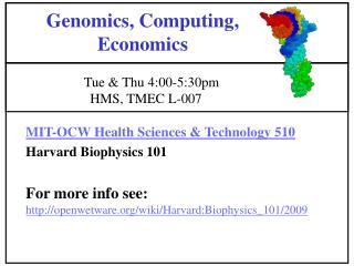 Genomics, Computing, Economics