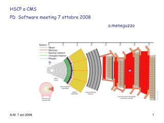 HSCP a CMS  PD  Software meeting 7 ottobre 2008 aneguzzo