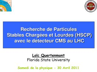 Recherche de Particules  Stables Charg�es et Lourdes (HSCP)  avec le d�tecteur CMS au LHC