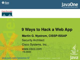 9 Ways to Hack a Web App