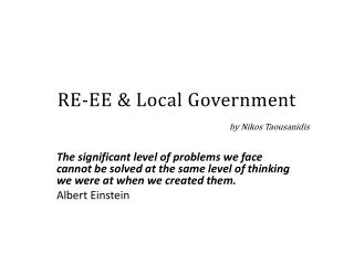 RE-EE & Local Government by Nikos  Taousanidis