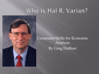 Who is Hal R. Varian?