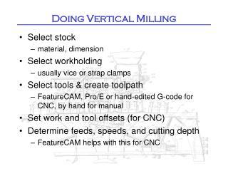 Doing Vertical Milling