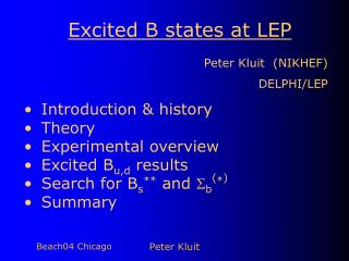 Excited B states at LEP