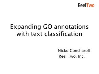 Expanding GO annotations with text classification