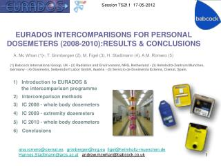 EURADOS INTERCOMPARISONS FOR PERSONAL  DOSEMETERS (2008-2010):RESULTS & CONCLUSIONS