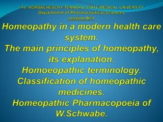 Homeopathic medicinal product