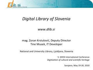 Digital Library of Slovenia  dlib.si