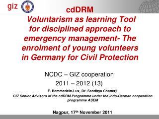 NCDC � GIZ cooperation  2011 � 2012 (13)