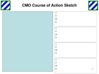 CMO Course of Action Sketch