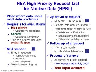 NEA High Priority Request List for Nuclear Data (HPRL)
