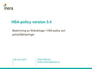 HSA-policy version 3.4