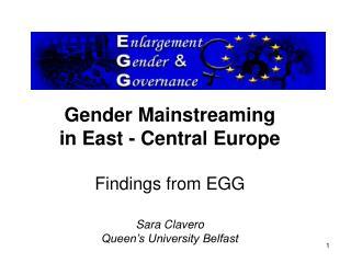 Enlargement, Gender and Governance (EGG)