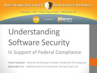 Understanding Software Security