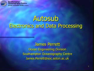 Autosub  Electronics and Data Processing