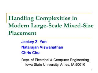 Handling Complexities in Modern Large-Scale Mixed-Size Placement