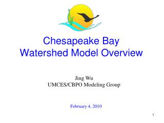 Chesapeake Bay  Watershed Model Overview