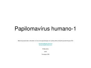 Papilomavírus humano-1