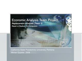 Economic Analysis Team Project