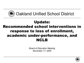 Oakland Unified School District