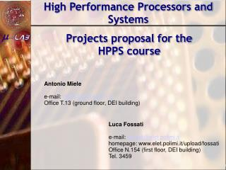 High Performance Processors and Systems