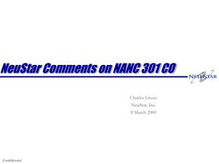 NeuStar Comments on NANC 301 CO