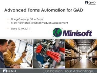 Advanced Forms Automation for QAD