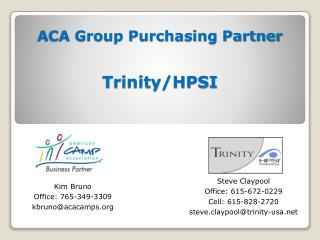 ACA Group Purchasing Partner Trinity/HPSI