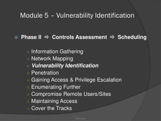 Module 5 – Vulnerability Identification