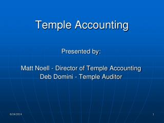 Temple Accounting