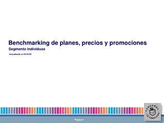 Benchmarking de planes, precios y promociones