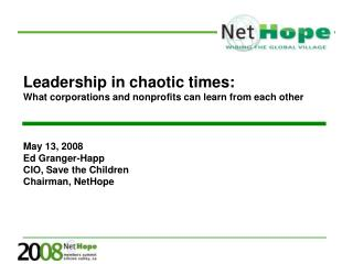 Leadership in chaotic times:  What corporations and nonprofits can learn from each other
