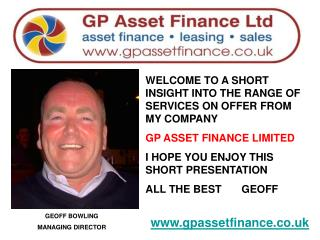 GEOFF BOWLING  MANAGING DIRECTOR
