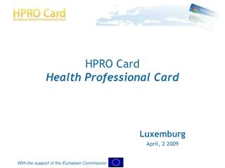 HPRO Card Health Professional Card