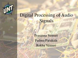 Digital Processing of Audio Signals