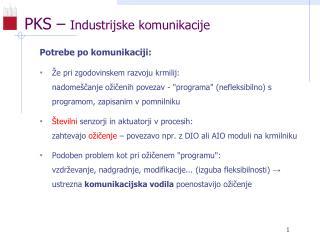 PKS –  Industrijske komunikacije