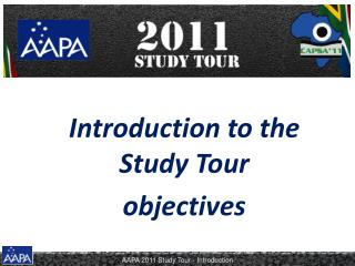 Introduction to the Study Tour objectives