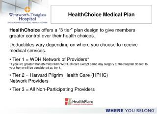 HealthChoice Medical Plan