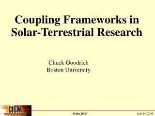 Coupling Frameworks in Solar-Terrestrial Research