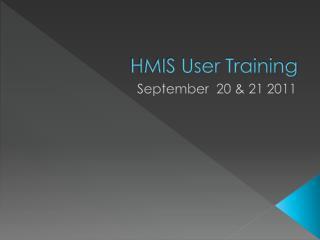 HMIS User Training