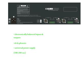 electronically balanced inputs & outputs