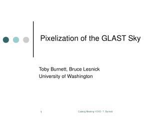 Pixelization of the GLAST Sky