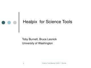 Healpix  for Science Tools