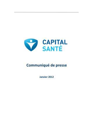 Communiqué de presse Janvier 2012