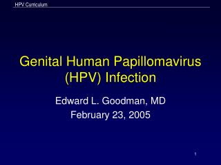 Genital Human Papillomavirus HPV Infection