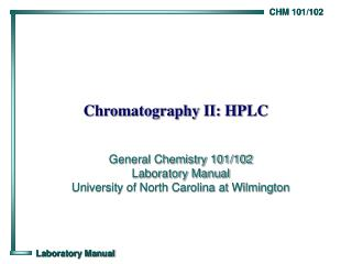 Chromatography II: HPLC