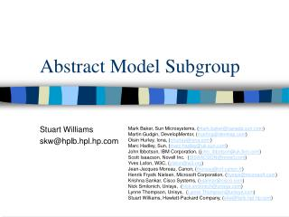 Abstract Model Subgroup