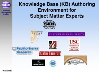 Knowledge Base (KB) Authoring Environment for  Subject Matter Experts