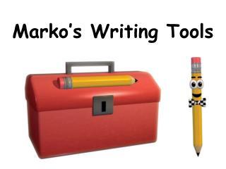 Marko's Writing Tools