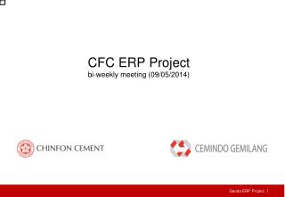 CFC  ERP Project bi-weekly meeting (09/05/2014)